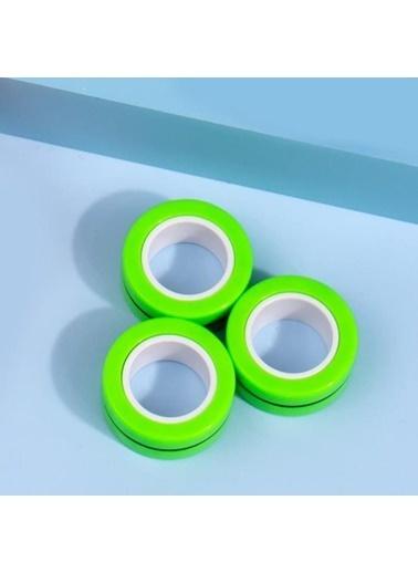 Premium Only Fingears Manyetik Mıknatıslı Halkalar Anti-Stres Yüzüğü Çarkı Renkli